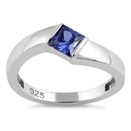Tanzanite CZ Sterling Silver Channel Set