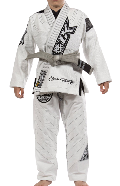 Contract Killer Discipline Jiu Jitsu Gi White - mmafightshop.ae