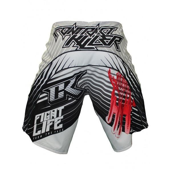 CONTRACT KILLER STAINED S2 SHORT White/Pink - mmafightshop.ae