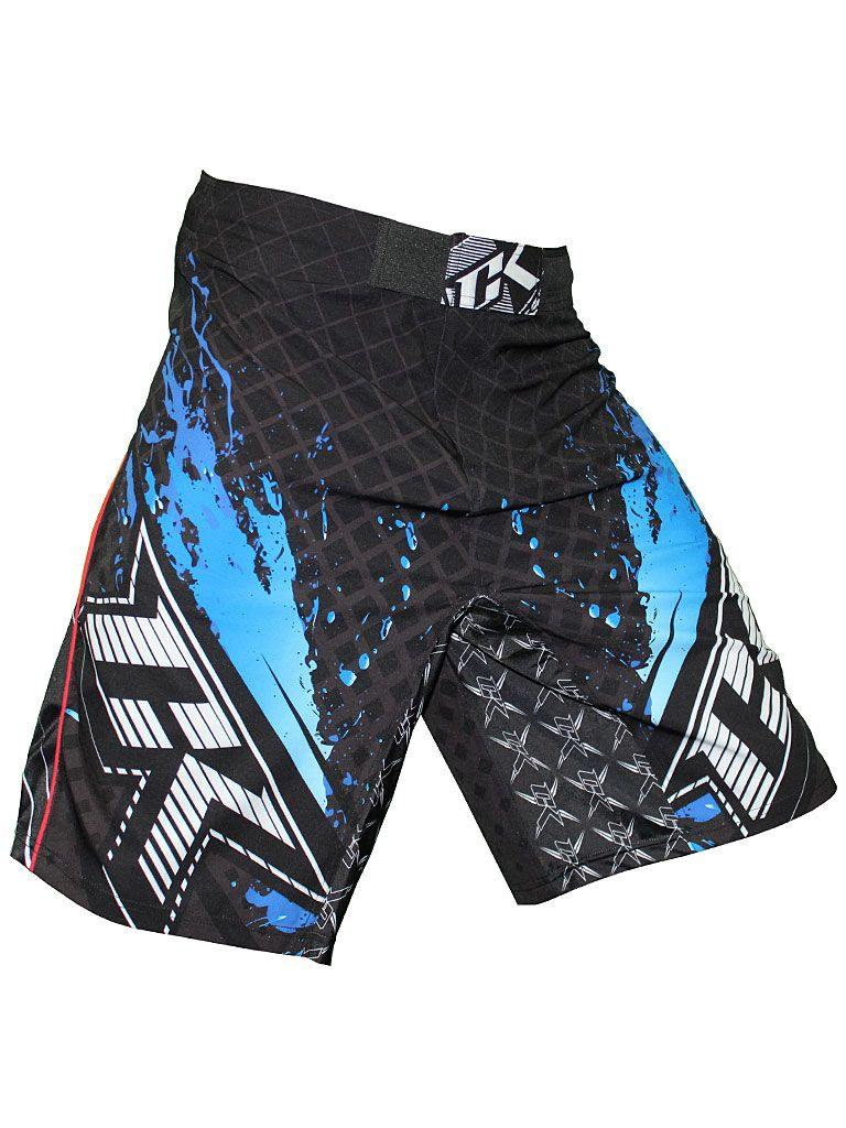 Contract Killer Stained S2 Shorts Black/Blue - mmafightshop.ae