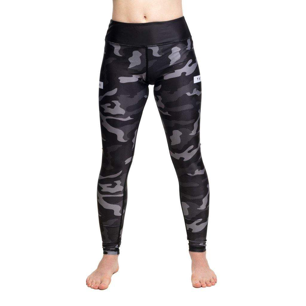 Ladies Rival Black & Camo Grappling Spats - mmafightshop.ae