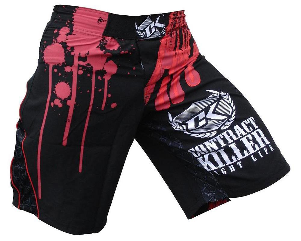 Contract Killer Stained Shorts - Black - mmafightshop.ae