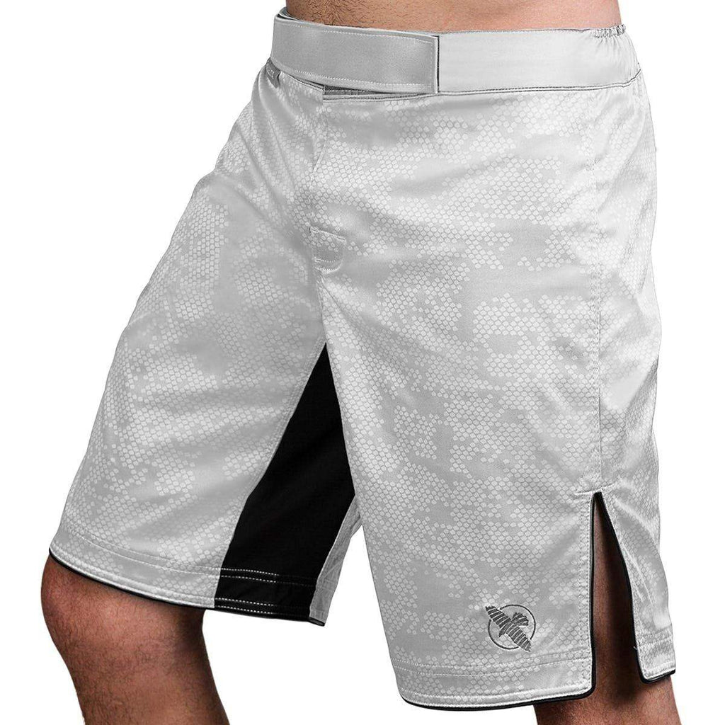Hexagon Fight Short - White - mmafightshop.ae