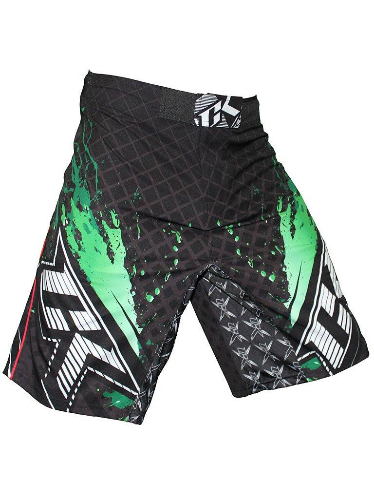 Contract Killer Stained S2 Shorts Black/Green - mmafightshop.ae