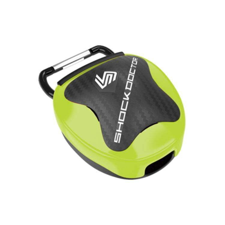 Shock Doctor 107 Mouthguard Case Shock Green - One size - mmafightshop.ae
