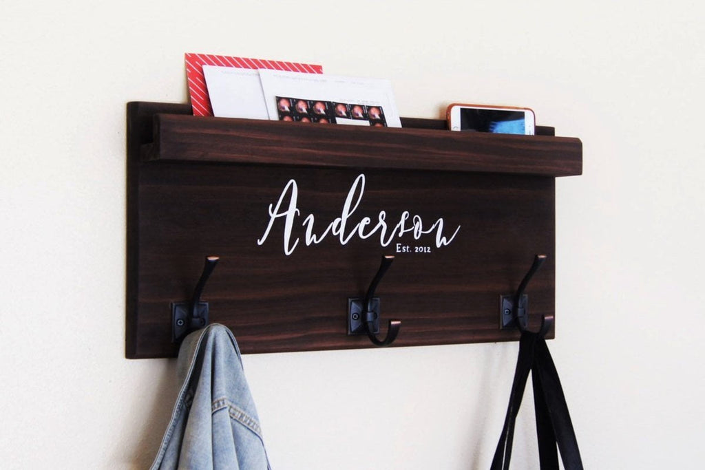 Coat Hooks with Storage Ledge