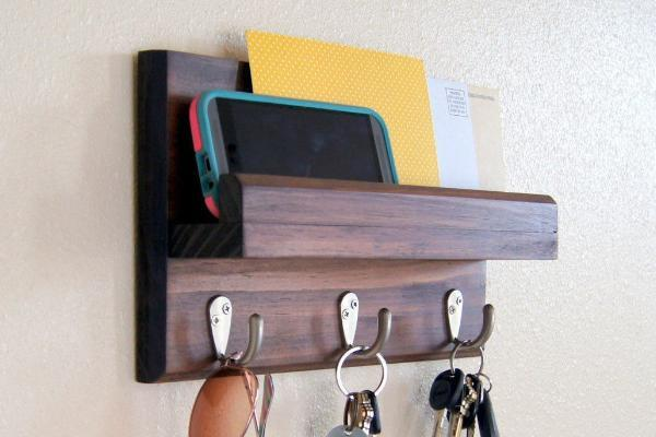 Key Rack and Mail Holder Handmade
