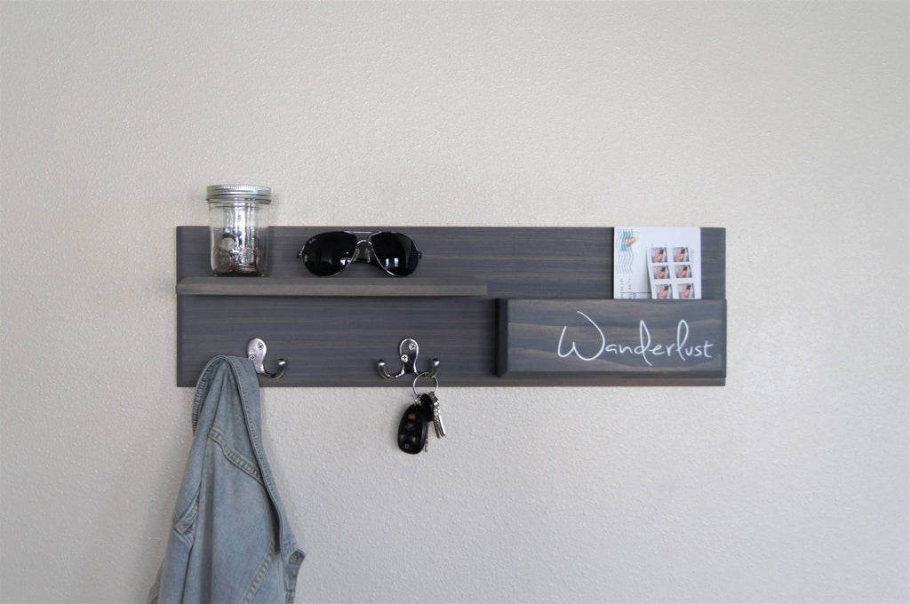 Entryway Organizer Coat Rack Magazine and Mail Storage Entryway Hallway Organizer