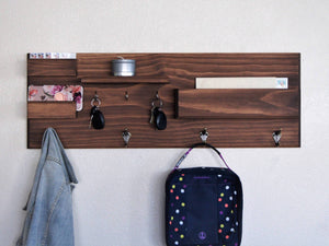 Entryway Organizer Mail Key Storage Wall Mounted Floating Shelf Entryway Organizer Backpack Hooks