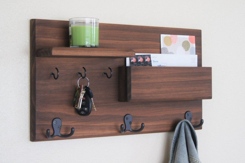 Wall Coat Rack with 3 hooks
