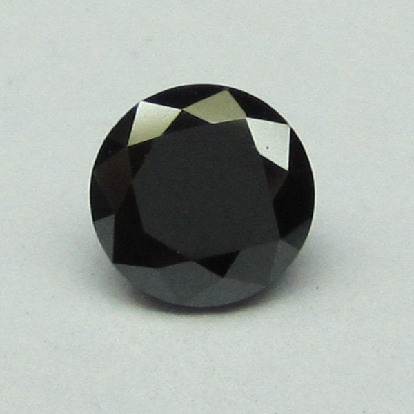 1.00 Ct Jet Black Color 6.50 mm Round Cut Loose Natural Diamond, Jet Black round brilliant Cut Natural Loose Diamond best ring - Amba Jewel
