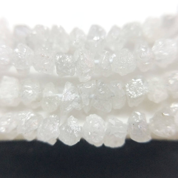 13.55 Carat 2 to 3.5 mm Natural White rough uncut loose diamond beads strand Necklace/Chain wear 100% earth mined origin Africa - Amba Jewel