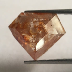 Natural Diamond 1.40 Ct 7.25 mm X 8.90 mm x 2.70 mm Fancy reddish Brown Geometric shape Diamond, Fancy reddish Brown Diamond SJ27/07 - Amba Jewel