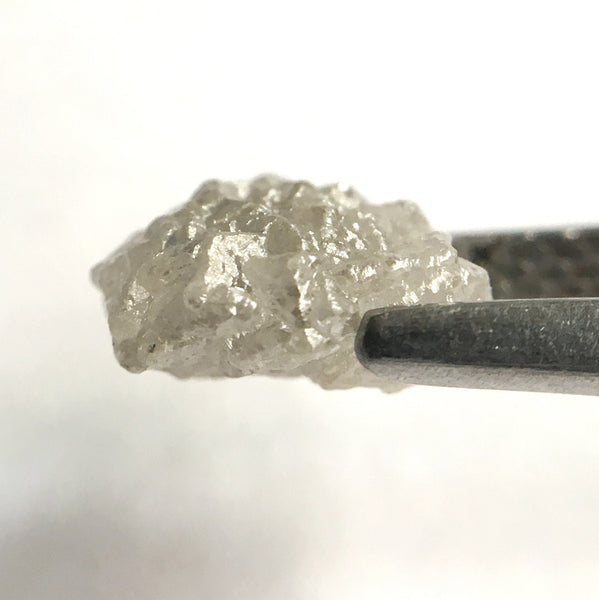 1.59 Ct Natural Uncut Raw Rough Loose Diamond Grey Color 8.00 mm x 6.65 mm, Diamond Crystal Earth Mined Origin South Africa - Amba Jewel