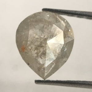 0.78 Ct Grey Color Pear Cut Loose Natural Diamond, 7.60 mm X 6.60 mm X 2.15 mm Grey  SJ30/47 - Amba Jewel