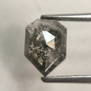 2.19 CT Natural Fancy Grey Color antique shape Loose Diamond 10.15 mm X 7.40 mm X 3.60 mm Pentagon Cut Natural Diamond SJ30/14 - Amba Jewel