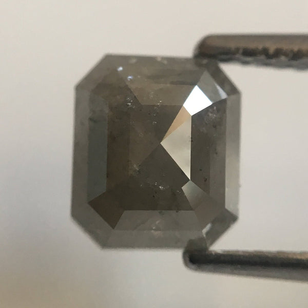 1.93 Ct Natural Gray Emerald Shape Natural Diamond, 6.92 mm X 6.09 mm X 4.29 mm Beautiful sparkling Natural Diamond AJ02/28 - Amba Jewel
