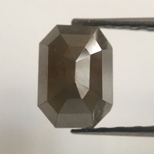 1.22 Ct Natural Brownish Gray Emerald Shape Natural Diamond, 6.67 mm X 4.85 mm X 3.88 mm Beautiful sparkling Natural Diamond AJ02/31 - Amba Jewel