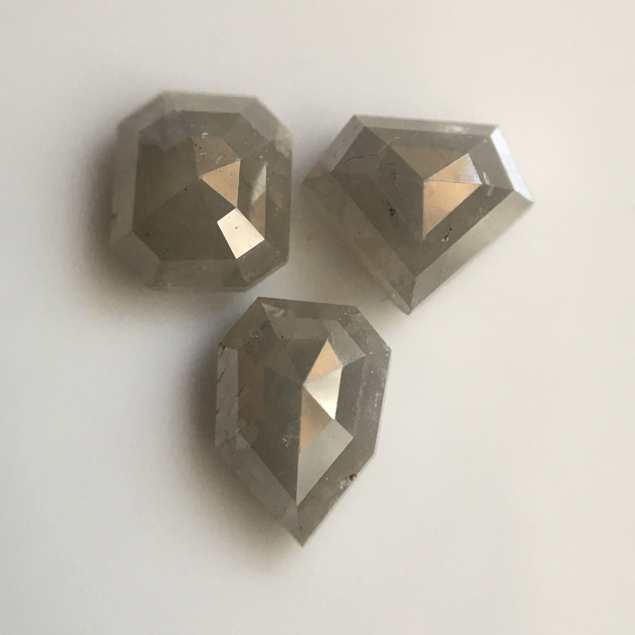 2.43 Ct 3 Pcs Natural Light Gray Color Mix Shape Loose Diamond, Beautiful sparkling faceted Diamond perfect for Jewelry AJ03/22 - Amba Jewel