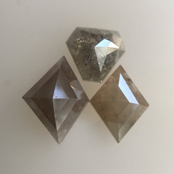 Genuine 1.69 Ct, 3 Pcs of Fancy Mix Shape Mix Color Natural Loose Diamond Beautiful sparkling faceted perfect for Jewelry AJ03/31 - Amba Jewel