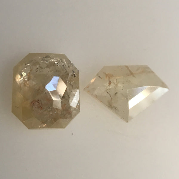 Natural Loose Diamond 1.33 Ct, 2 Pcs of Diamond and Cushion shape Fancy Yellow Color Beautiful sparkling faceted perfect for Jewelry AJ03/40 - Amba Jewel
