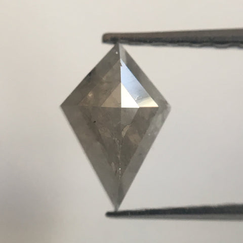 0.57 Ct 7.26 mm X 4.90 mm X 2.50 mm Fancy Grey Color geometric shape Natural Diamond, Kite Shape Fancy Light grey Diamond SJ10/15 - Amba Jewel