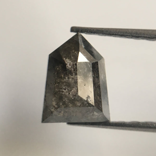 0.97 CT Natural Fancy Grey Color antique shape Loose Diamond 7.10 mm X 5.50 mm Excellent Pentagon Shape Diamond use for jewelry SJ20/10 - Amba Jewel