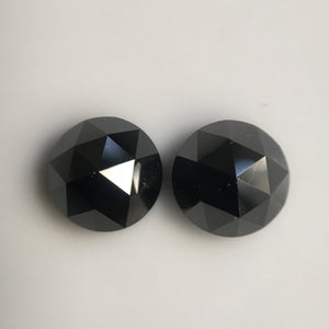 4.00 mm Heated black rose cut natural loose diamond, Rose cut black natural loose diamond, Round rose cut black diamond SJBLKHTD2 - Amba Jewel