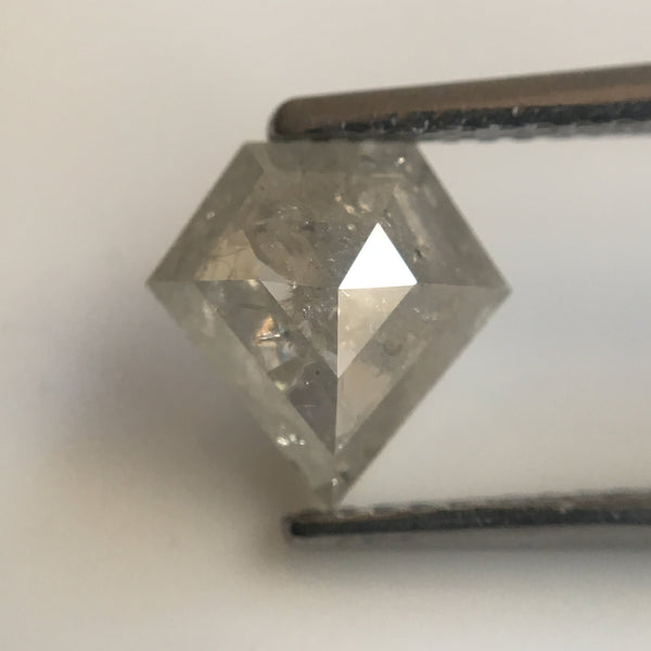 Genuine 2.26 Ct Grey Color Fancy Diamond shape Natural Diamond 8.10 mm X 8.00 mm x 2.70 mm Use for Jewelry making SJ23/31 - Amba Jewel