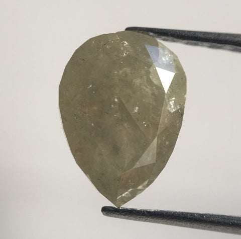 1.42 Ct Fancy Grey Color Pear Cut  Natural Diamond, 7.98 mm X 5.86 mm x 4.00 mm Fancy Grey Fancy Pear Cut Natural Diamond AJ13/22 - Amba Jewel
