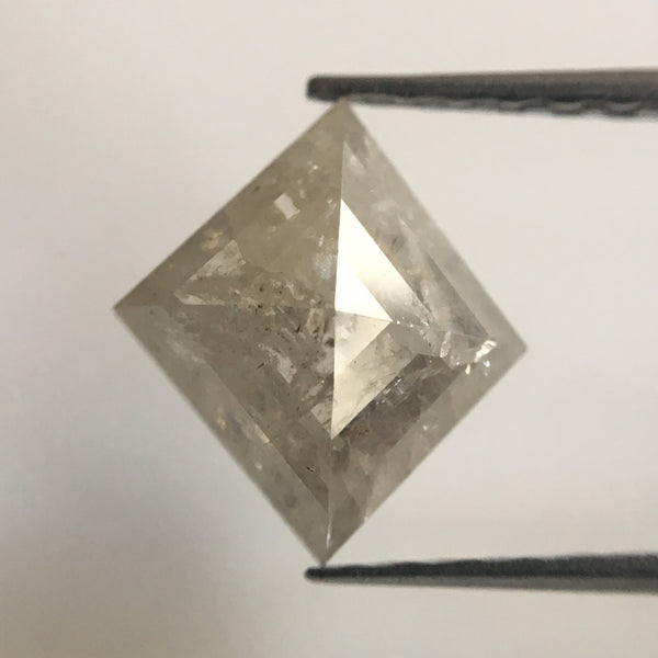 1.45 Ct Fancy Grey Color Kite shape Natural Loose Diamond, 9.33 mm X 8.33 mm X 3.47 mm Excellent Natural Diamond quality AJ01/08 - Amba Jewel