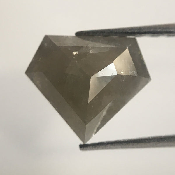 1.30 Ct Genuine Dark Grey Color Geometric shape Natural Diamond, 7.08 mm X 8.30 mm X 2.93 mm Natural Diamond Use for Jewelry making AJ02/03 - Amba Jewel