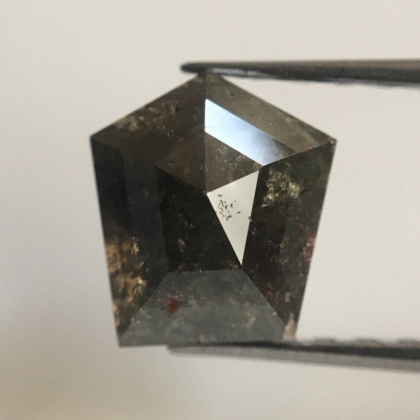 Genuine 1.43 Dark Gray Color Geometric shape Natural Loose Diamond, 7.02 mm X 6.34 mm X 3.66 mm Natural Loose Diamond AJ02/08 - Amba Jewel