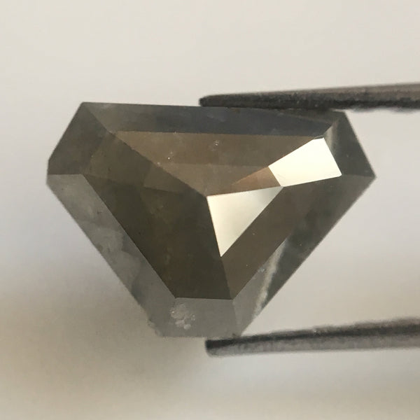 1.13 Dark Gray Color Geometric shape Natural Loose Diamond, 5.94 mm X 8.43 mm X 2.76 mm Natural Loose Diamond Use for Jewelry making AJ02/15 - Amba Jewel