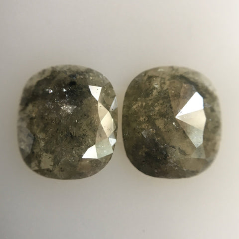 3.83 Ct Natural Dark Gray Color Oval Shape 9.80 mm x 8.40 mm Size Diamond Pair, oval cut Natural Diamond AJ04/02 - Amba Jewel