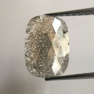 1.19 Ct Oval Shape Fancy Gray Natural Diamond, 10.90 mm x 7.50 mm Rusty Translucent Rose Cut Slice Diamond AJ04/35 - Amba Jewel