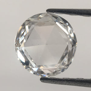 0.38 Ct Natural White Round Rose Cut  Diamond, F/G Color 5.04 mm x 1.59 mm VS1 Clarity Natural Diamond  SJ39/26 - Amba Jewel