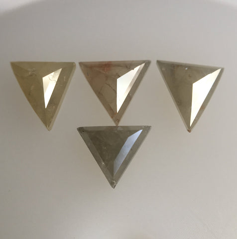 0.60 Ct Fancy Color Triangle shape Natural Diamond 4 Pcs, 4.18 to 4.29 mm Excellent Natural Diamond SJ41/27 - Amba Jewel