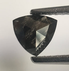 0.48 Ct Triangle Shape Natural Diamond Dark Gray Color 5.64 mm x 5.59 mm X 2.09 mm, Polished Diamond for rings SJ43/05 - Amba Jewel
