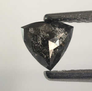 0.41 Ct Triangle Shape Natural Diamond Black Gray 4.84 mm x 5.05 mm X 2.26 mm, Polished Diamond for rings SJ43/26 - Amba Jewel
