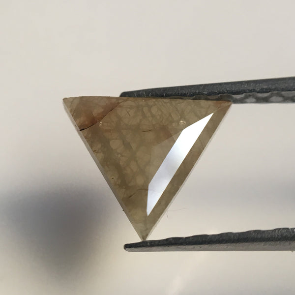 0.48 Ct Yellowish Gray Color Triangle shape Natural Loose Diamond, 6.30 mm X 7.38 mm X 1.33 mm Excellent Natural Loose Diamond SJ41/33 - Amba Jewel
