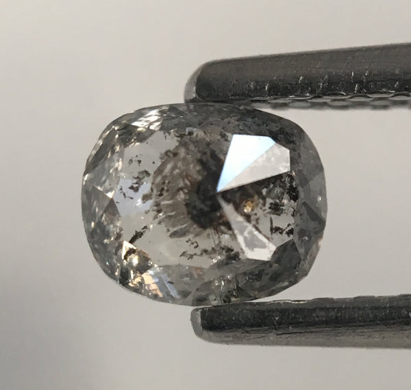 0.46 Ct Oval shape Rose Cut Salt and Pepper Natural Diamond, 4.89 mm x 4.07 mm X 2.73 mm Rustic Natural loose diamond  SJ46/29 - Amba Jewel
