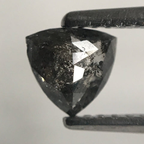 0.48 Ct Triangle Shape Natural Diamond Dark Gray Color 5.21 mm x 5.34 mm X 2.29 mm, Polished Diamond for rings SJ43/16 - Amba Jewel