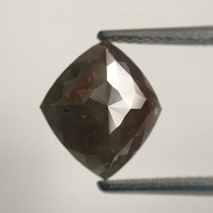 2.75 Ct Antique shape Natural Diamond 10.79 mm X 9.30 mm X 3.60 mm Fancy Grey Color  making SJ44/01 - Amba Jewel