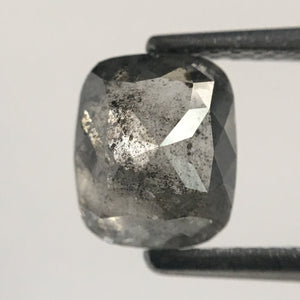 1.73 Ct Oval Shape Gray Natural Loose Diamond 7.30 mm X 6.13 mm x 4.07 mm Oval Shape Rose Cut Natural Loose Diamond SJ48/26 - Amba Jewel