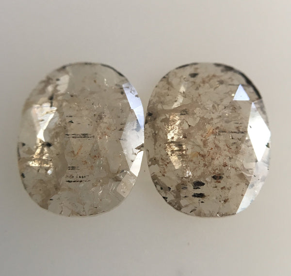 1.17 Ct Oval Shape Greyish Brown Color Natural Loose Diamond 7.79 mm X 6.07 mm x 1.15 mm Oval Shape Rose Cut Natural Loose Diamond SJ45/19 - Amba Jewel