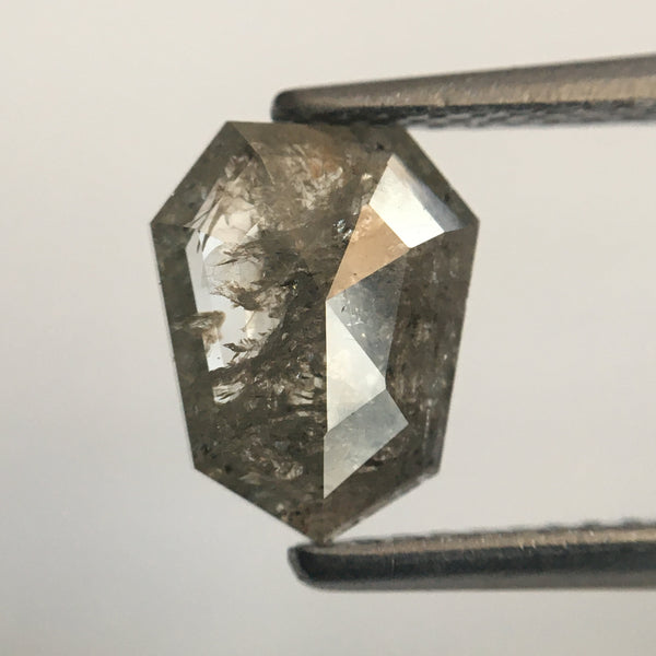 1.24 Ct Genuine Fancy Grey Color Geometric shape Natural Diamond, 8.51 mm X 6.69 mm X 2.21 mm Natural Loose Diamond SJ49/26 - Amba Jewel