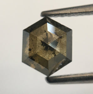 1.38 Ct Fancy Brown Hexagon Shape Natural Loose Diamond, 6.98 mm X 5.75 mm X 3.90 mm Loose diamond Use for Jewellery making SJ49/34 - Amba Jewel