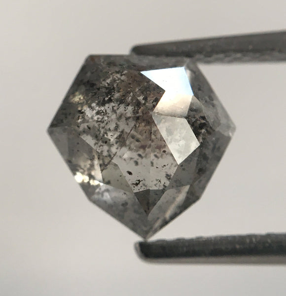 1.84 Ct Shield Shape Gray Color Natural Loose Diamond, 7.63 mm x 7.75 mm X 3.98 mm Geometry shape Natural Loose Diamond SJ49/75 - Amba Jewel
