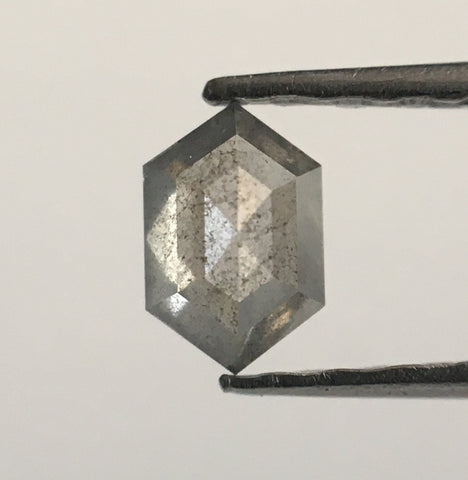 0.19 Ct Fancy Gray Natural Diamond Hexagon Shape 4.60 mm X 3.01 mm X 1.74 mm Hexagon Shape  Diamond  SJ53/65 - Amba Jewel